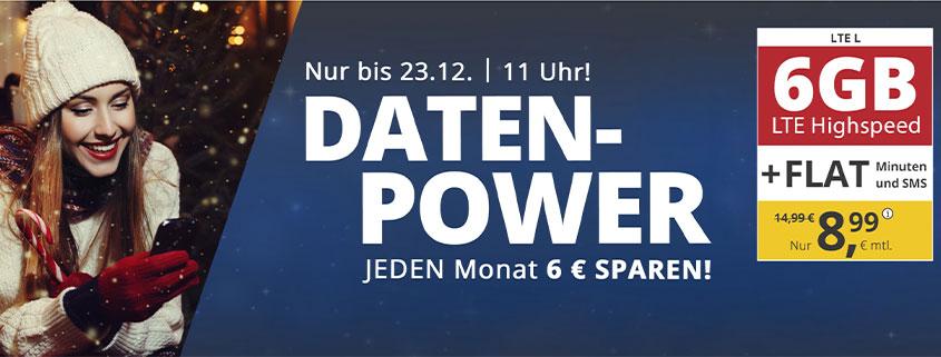 PremiumSIM LTE L Tarif mit 6 GB nur 8,99 €/mtl.