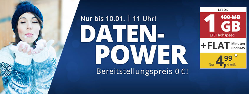 premiumSIM 1 GB Tarif für 4,99 €/mtl.