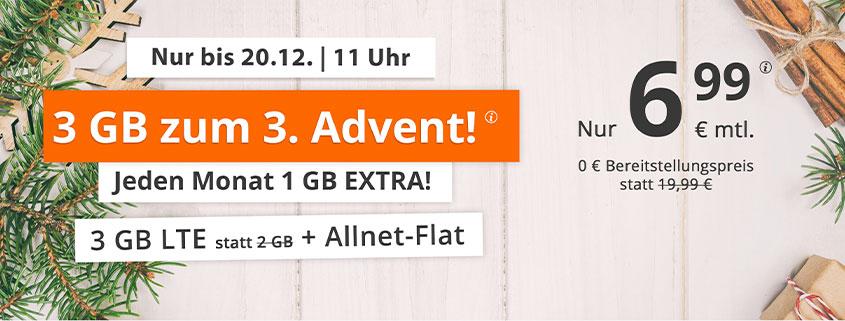 sim.de LTE ALL 3 GB für 6,99 €/mtl.