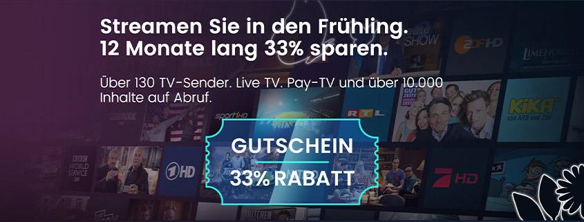 waipu.tv Frühjahrespaket - 12 Monate für 6,69 €/mtl.