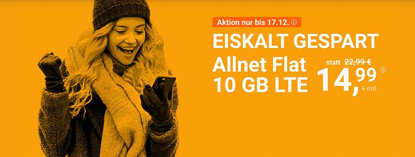 winSIM LTE All 10 GB für 14,99 €/mtl.