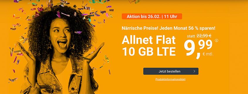 LTE All 10 GB Tarif für nur 9,99 €