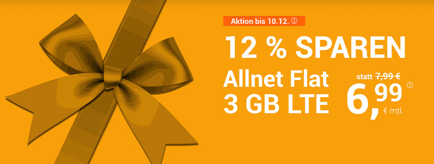 winSIM Aktion - 3 GB für 6,99 €/mtl.