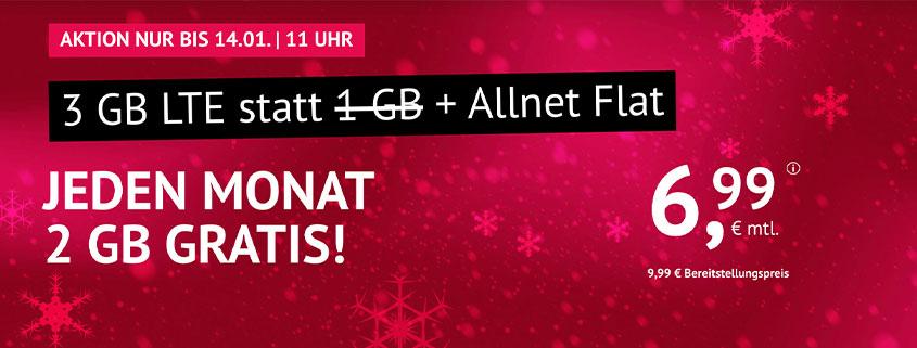 handyvertrag.de 3 GB für nur 6,99 €/mtl.
