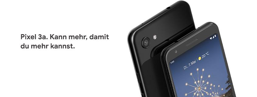 Google Pixel 3a + 5 GB Vodafone LTE Allnet Flat für 12,99 €