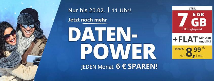 PremiumSIM LTE L mit 7 GB für 8,99 €/mtl.