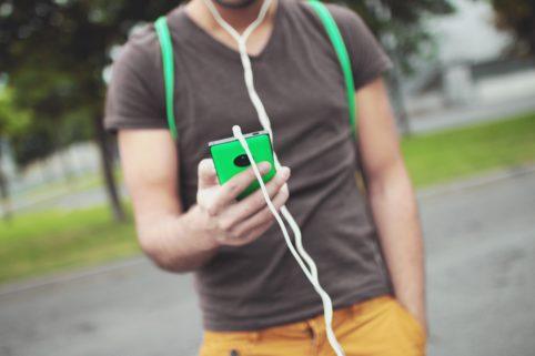 Blick auf das Smartphone