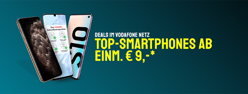 sparhandy Vodafone Deals - Huawei P30 inkl. 10 GB Vodafone LTE Allnet Flat nur 19,99 €/mtl.