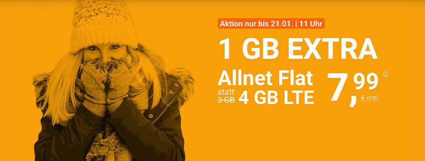 winSIM 4 GB Flat für 7,99 €/mtl.