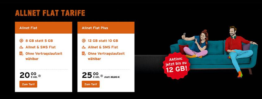 Aktion bei Congstar - 8 GB Telekom LTE Flat für nur 20 €