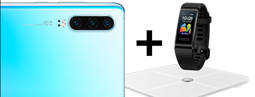 Huawei P30 + Band 4 Pro + Waage & 6 GB Flat für 21,99 €/mtl.