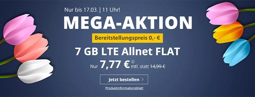 PremiumSIM LTE L mit 7 GB für 7,77 €/mtl.