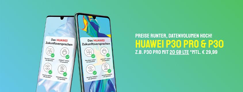 sparhandy Top Deals - Huawei P30 für 19,99 €/mtl.
