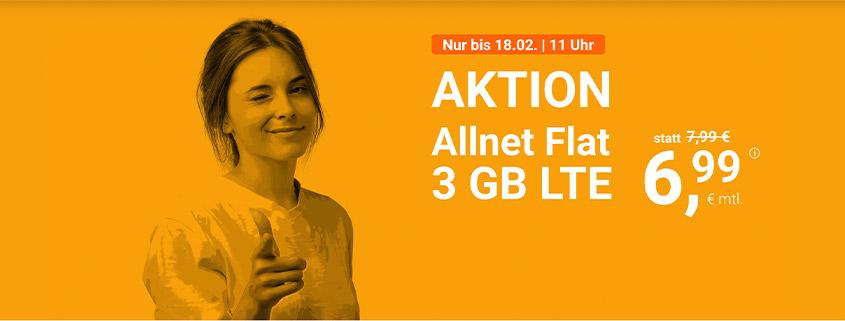 winSIM LTE All 3 GB für 6,99 €/mtl.