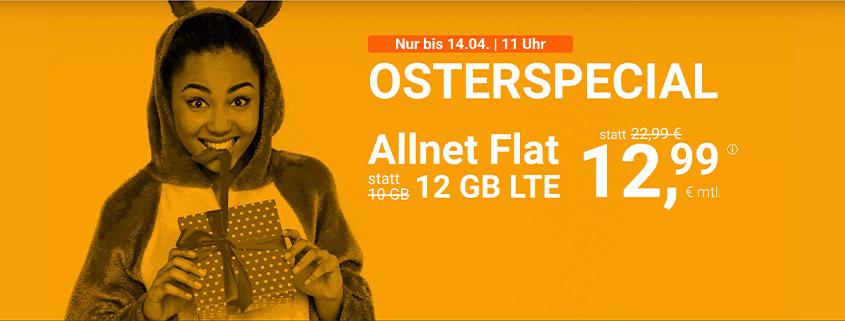 Osterangebot bei winSIM - LTE All 12 GB Tarif für nur 12,99 €