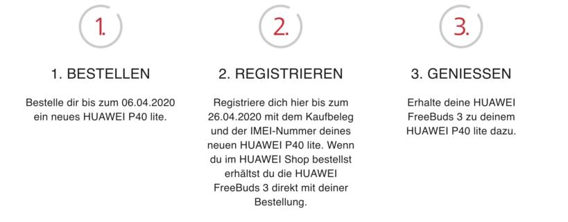 Huawei FreeBuds 3 gratis sichern