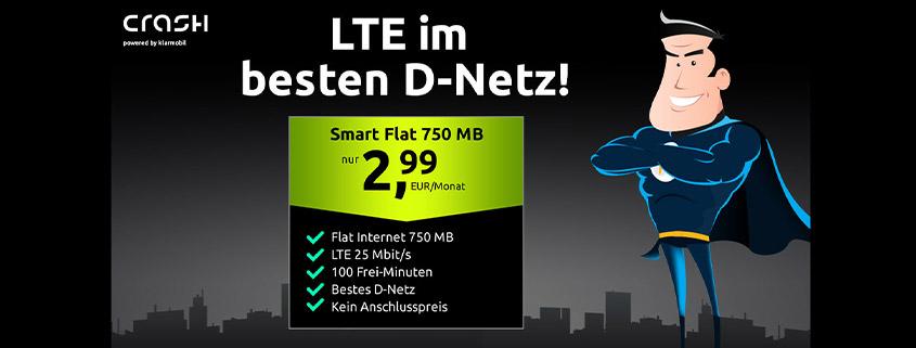crash Tarife - 750 MB Telekom LTE Tarif nur 2,99 €im Monat
