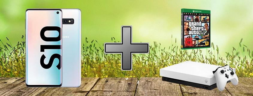 Samsung Galaxy S10 + Xbox One X + GTA 5 & 6 GB Telekom LTE Flat