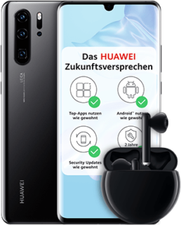 Huawei P30 Pro inkl. FreeBuds 3 & 40 GB LTE Flat für 34,99 €/mtl.