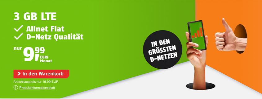 klarmobil Allnet-Flat inkl. LTE ab 9,99 €/mtl.