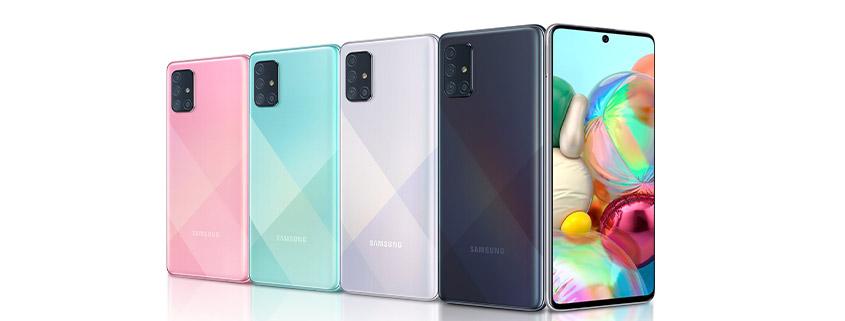 Samsung Galaxy A71 inkl. LTE Allnet Flat schon ab 14,99 € im Monat