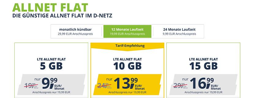 Neu bei freenet Mobile - Mehr Datenvolumen und neue Laufzeiten