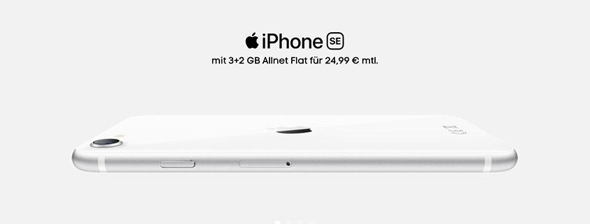 iPhone SE bei Blau.de - Smartphone + 5 GB Flat für 24,99 € im Monat
