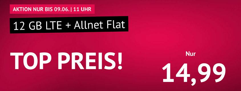 handyvertrag.de Aktionstarif: 12 GB LTE Flat für 14,99 €/mtl.