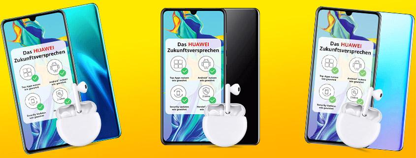 Huawei P30 + FreeBuds 3 & 10 GB Vodafone LTE Flat für nur 19,99 € im Monat