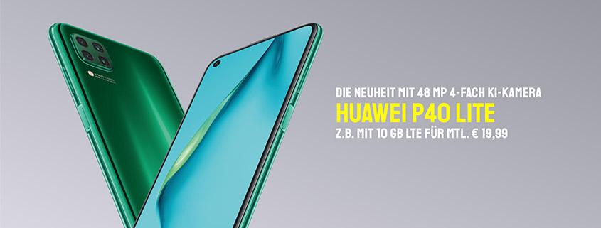 Huawei P40 Lite inkl. 3 GB LTE Tarif schon ab 14,99 € im Monat