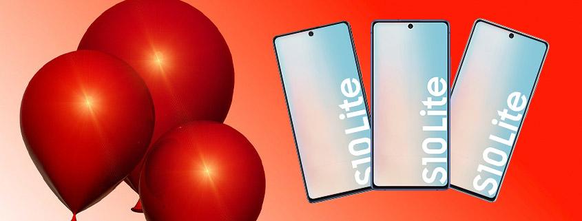 Geburtstagsdeal - Samsung Galaxy S10 Lite + 20 GB LTE Allnet-Flat für 23,99 € im Monat