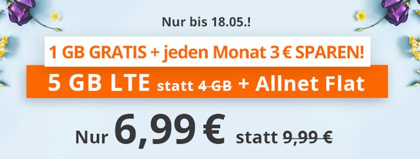 sim.de bietet 5 GB LTE Flat für 6,99 €/mtl. an