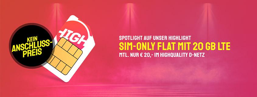 Spezial-Tarif: 20 GB Telekom LTE Allnet Flat für nur 20 €im Monat