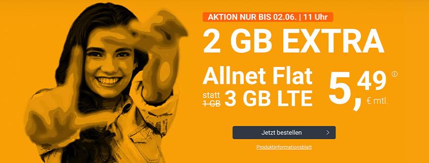 winSIM: Allnet Flat, 3 GB LTE Datenvolumen für nur 5,49 EUR Grundgebühr