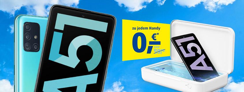 Samsung Galaxy A51 + LTE Allnet-Flat & Gratis UV-Box ab 9,99 €/mtl.