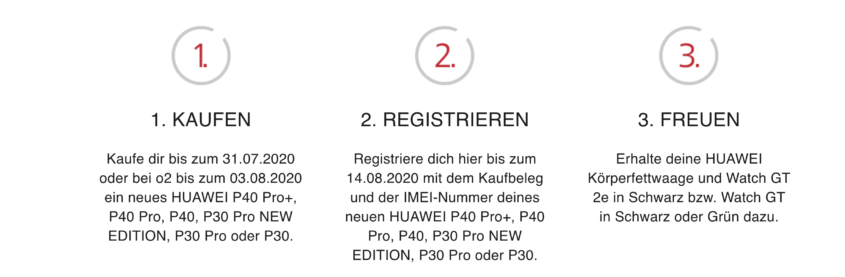 Huawei Zugaben