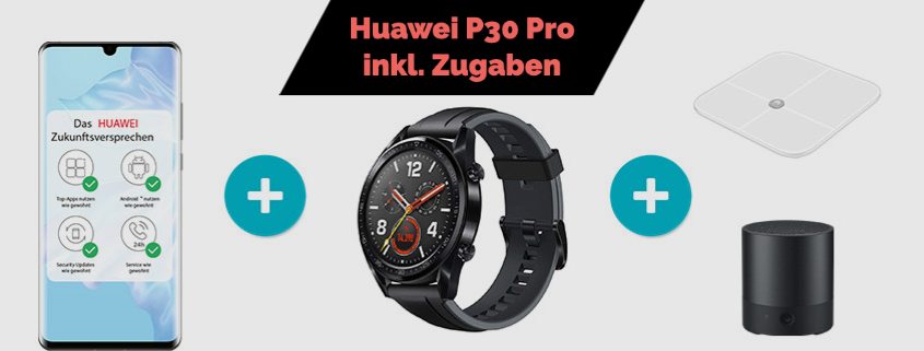 Huawei P30 Pro + Zugaben & 20 GB LTE Allnet Flat nur 24,99 €/mtl.