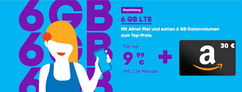 Blau Allnet L + 30 € Amazon Gutschein für nur 9,99 €/mtl.