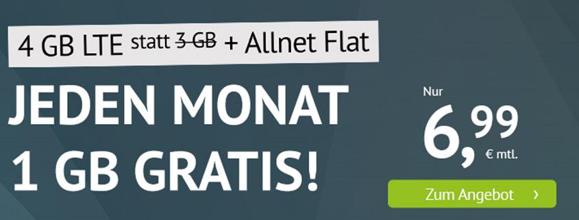 handyvertrag.de startet LTE Allnet Flat mit 4 GB für 6,99 €