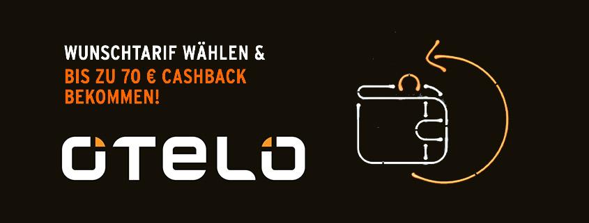 Otelo Cashback Deals - 5 GB LTE Allnet-Flat + 40 € Auszahlung für 14,99 €im Monat
