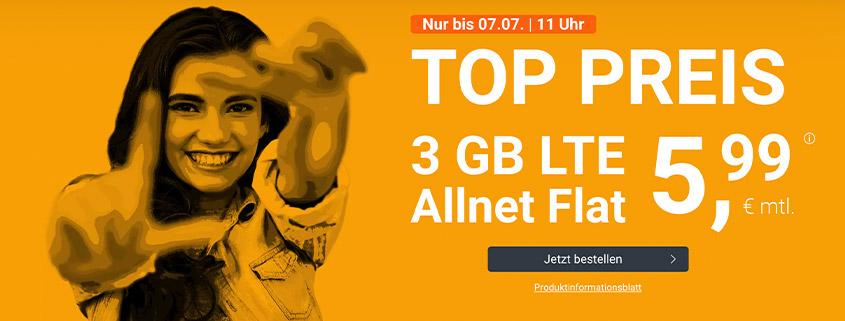 winsim LTE All 3 GB Aktionstarif für nur 5,99 € im Monat