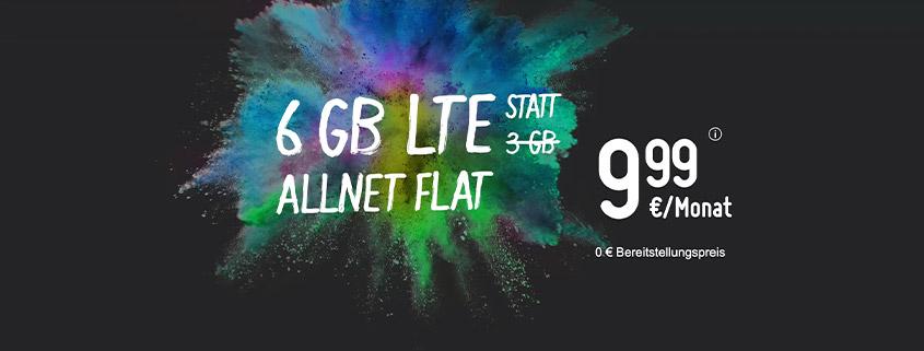 smartmobil bietet Dir eine 6 GB LTE Allnet-Flat für 9,99 €/mtl.