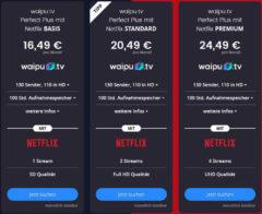 waipu.tv + Netflix im Kombipaket ab 16,49 €/mtl.