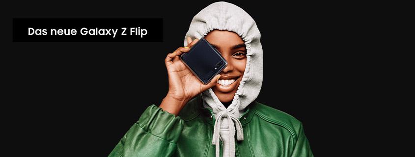 Samsung Galaxy Z Flip + 26 GB Vodafone LTE Allnet-Flat für 44,99 €im Monat