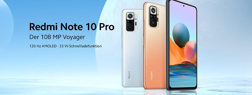 Xiaomi Redmi Note 10 Pro + 7 GB LTE Allnet Flat für nur 14,99 €/mtl.
