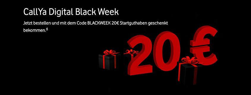 Black Week Deal - CallYa Digital jetzt mit 20 €Bonus-Guthaben