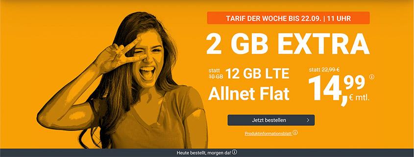 winSIM Top Deal - LTE All 10 + 2 GB Tarif für nur 14,99 €