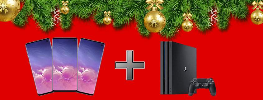 Samsung Galaxy S10 EE + Sony PlayStation 4 Pro & Vodafone LTE Flat