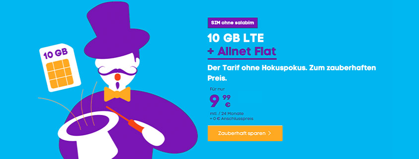 Blau Allnet XL inkl. 10 GB für nur 9,99 € im Monat