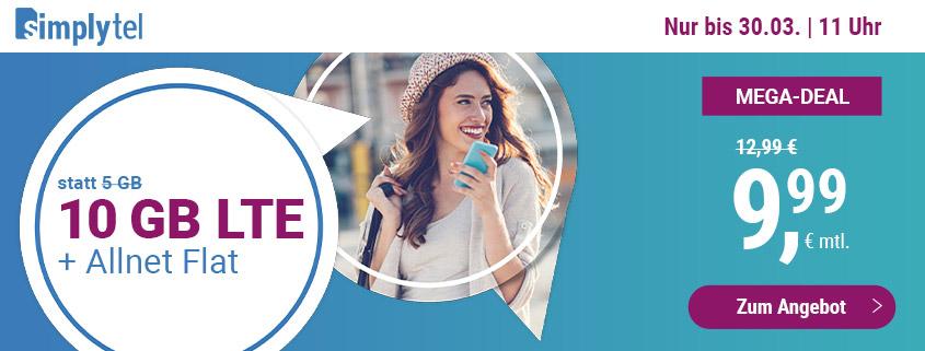 simply LTE 5.000 - Aktionstarif mit 5 GB gratis dazu